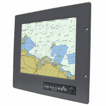 "multifunction monitor for yachts and ships (PC, video, navigation system, touchscreen) R12L600-MRM2HB - 12.1"" Winmate Communication INC."