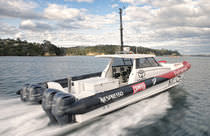 offshore power-boat : rigid inflatable boat (outboard, catamaran) CATALYST45 Salthouse Boatbuilders