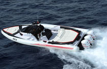 offshore power-boat : rigid inflatable boat (outboard, triple engine) ABARTH POWERSHORE Sacs