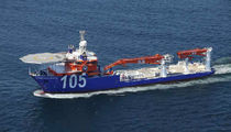 offshore support vessel : crane vessel (shipyard) L.V.North Ocean 105 Metalships & Docks, S.A.