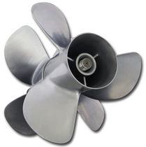 outboard and sterndrive propeller for boats (4 blades, stainless steel) B-THREE Signature Propellers