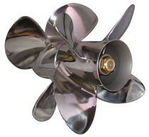outboard and sterndrive twin counter-rotating propeller for boats FOUR BY 4 BRAVO III Signature Propellers