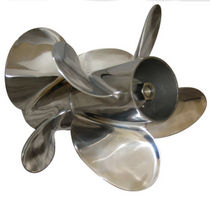 outboard and sterndrive twin counter-rotating propeller for boats FOUR BY 4 F SERIES Signature Propellers