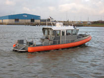 patrol-boat : rigid inflatable boat (in-board, hydrojet, with enclosed cockpit) ALN 098 - WAVE PROTECTOR Alnmaritec