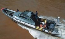 patrol-boat : rigid inflatable boat (outboard, twin engine, with enclosed cockpit) MOON 1190 WORK astillero lunamar semirrigidas moon