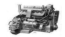 pleasure boat engine : in-board diesel engine 100 - 200 hp (indirect injection, natural aspiration) 6LXB (127 HP @ 1500 RPM) Gardner Marine Diesels