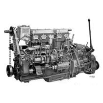 pleasure boat engine : in-board diesel engine 70 - 80 hp (indirect injection, natural aspiration) 5LW (78 HP @ 1500 RPM) Gardner Marine Diesels