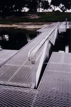 pontoon gangway with handrail  Marina Dock Systems