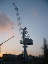 port crane: level luffing crane (rail mounted) RBC 20 - 1 CIMOLAI TECHNOLOGY SPA
