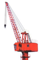 port crane: luffing jib crane 5T-14M FIXED Nanjing Port Machinery
