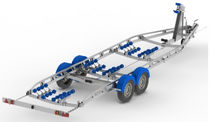 power-boat trailer > 2T double axle (with rollers) D7 6.5 -> 7.5M Mersea Commercial and Leisure Trailers