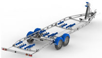power-boat trailer > 2T double axle (with rollers) D7.5 7.5 -> 8.5M Mersea Commercial and Leisure Trailers