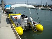 power catamaran : rigid inflatable boat (work-boat, outboard) 21 Wing Inflatables