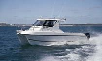 power catamaran : cruiser fishing boat 8000 SPORTFISHER LeisureCat