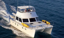 power catamaran : flybridge express-cruiser (2 cabins) P-47 Maine Cat