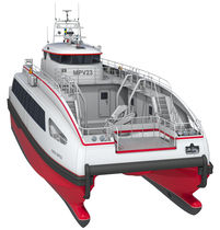 power catamaran : multi-purpose work-boat CARBOCAT MPV 23 Fintry Marine Design AG