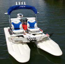 power catamaran : outboard center console boat E2 ELITE CraigCat