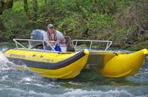 power catamaran : rigid inflatable boat (work-boat, outboard) 16 Wing Inflatables