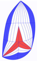 racing-cruising sail : asymmetric spinnaker STANDARD ROLLY TASKER SAILS