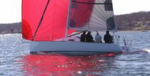 racing sailboat (open transom, bow-sprit) J 95 J-boats