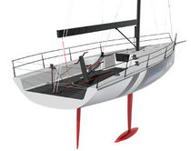 racing sailboat (open transom, bow-sprit) HH 42 Hakes Marine