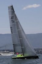 racing sailboat (open transom, bow-sprit) F10 Chantier Naval René Luthi & Fils