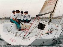 racing sailboat (open transom, tiller steering) BULL 9000 Young Yacht Design