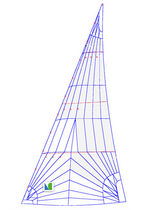 racing sail : headsail NO.1  Lidgard Sailmakers