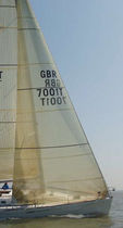 racing sail : headsail (3D molded) GRAND PRIX : X TECH / GPL / H5 Hydesails
