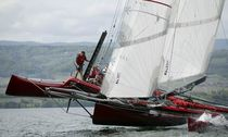 racing trimaran RED Décision