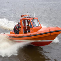rescue boat : rigid inflatable boat (jet propulsion, center console) ALN 079 - WAVE RANGER CLASS Alnmaritec