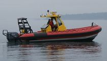rescue boat : rigid inflatable boat (outboard, twin engine, center console) TITAN 249XL T TOP Titan