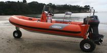 rescue boat : amphibious rigid inflatable boat (outboard, center console) 6.1 RIB RESCUE Sealegs International Limited