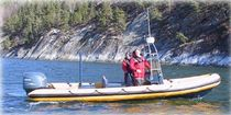rescue boat : rigid inflatable boat (outboard, center console) FALCON Osprey