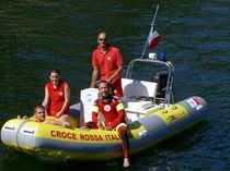 rescue boat : rigid inflatable boat (outboard, center console) RESCUE 460 Stem Marine s.r.l
