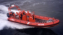 "rescue boat : rigid inflatable boat (outboard, twin engine, center console) 24'6"" NEPTUNE Polaris boat"