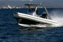 rigid inflatable boat (outboard, stepped hull, carbon, center console, roll-bar, teak deck) U.69 UFO