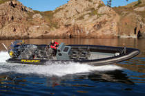 rigid inflatable boat (utility, outboard, twin engine, center console) HIGH PERFORMANCE 11M Tornado Boats