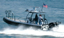 rigid inflatable boat (outboard, twin engine, center console, roll-bar, T-Top) SEA FORCE 730 LE Willard Marine