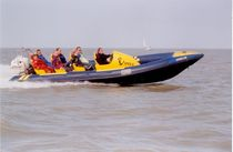 rigid inflatable boat (passenger boat, outboard, twin engine, center console) LYNX 26 Osprey