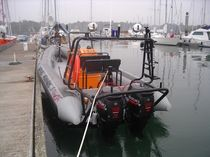 rigid inflatable boat (utility, outboard, twin engine, center console) 7.30 HB Ufast