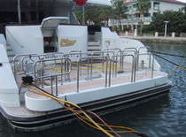 rotating yacht gangway  Nautical Structures