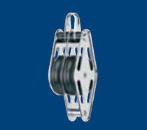 sailboat double block with fixed head / becket (max. rope &oslash; : 12 mm) 35031 002 55 - BL = 900 KG Sprenger