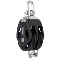 sailboat double block with swivel / becket (max. rope ø : 14 mm) PBB 60 - SWL = 1100 KG Seldén