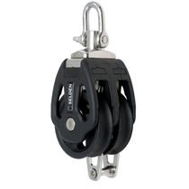 sailboat double block with swivel / becket (max. rope ø : 16 mm) PBB 80 - SWL = 2000 KG Seldén