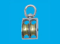 sailboat double block with swivel MS1104 Ningbo Metals & Wire Rope Fittings