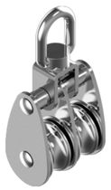 sailboat double block with swivel (max. rope ø : 14 mm) M 8390 Wasi Maritim