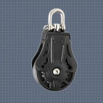sailboat single block with swivel (max. rope &oslash; : 9 mm) 72105 Wichard