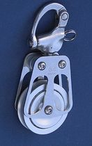 sailboat single block with snap shackle (max. rope ø : 14 - 28 mm) BL = 1000 -> 8000 KG OH MARINE EQUIPMENT
