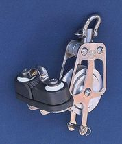 sailboat single block with swivel / becket / cam-cleat (max. rope ø : 14 - 18 mm) BL = 1000 - 3600 KG OH MARINE EQUIPMENT